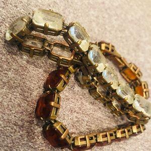 j.crew chunky tennis bracelet w/ clear gemstones.